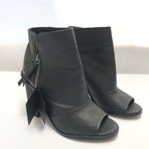 Black Booties open toe size 6.5